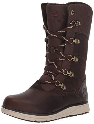(Timberland Women's Haven Point Waterproof Boot Snow, Dark Brown, 7 M US)