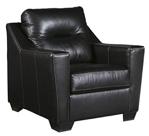 Ashley Furniture Signature Design – Kensbridge Contemporary Leather Armchair – Black