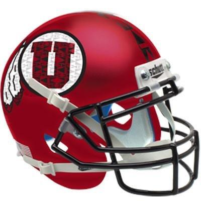 Utah Utes Satin Red Black Mask Officially Licensed XP Authentic Football - Satin Utes Utah