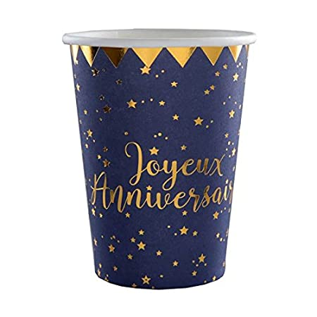 1001decotable - Juego de 100 Vasos para cumpleaños, Color ...