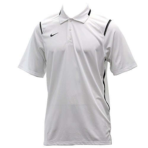 Nike Men's Dri-Fit Game Day White/Black Short Sleeve Polo T-Shirt Sz: L (Polo Chest Nike Graphic)