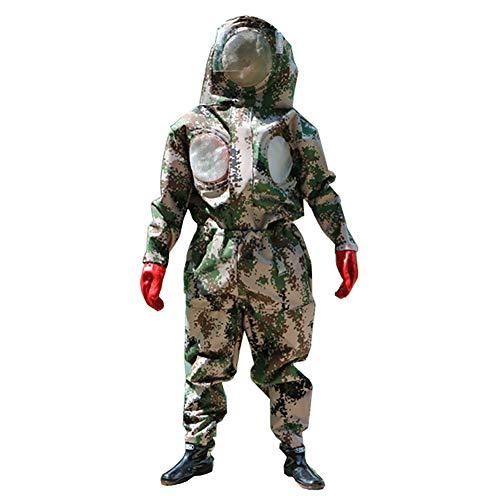 DJLOOKK Traje de Apicultura Traje Anti-Avispa con máscara y Botas y Guantes con Ventilador. Traje de Apicultura...