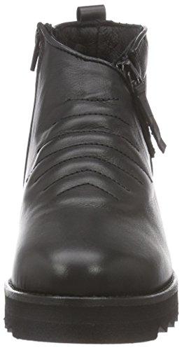 botas bajo Negro SchnoorLeather caño negro de boot Sofie Mujer REwqUZ