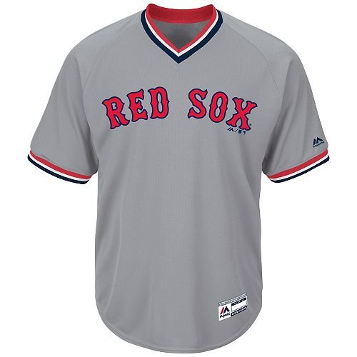 Adult 2XL Boston Red Sox BLANK BACK Major League Baseball Cool-Base V-Neck (Boston Red Sox Blank)