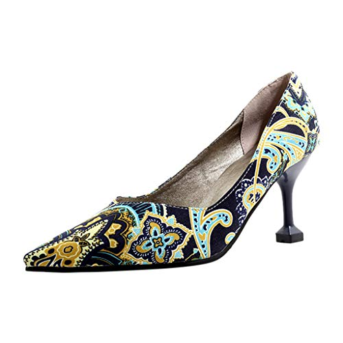 Women's Fashion Pointed Shoes Stiletto Shallow High Heeled Ladies Single Shoes