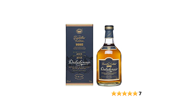 Dalwhinnie Distillers Edition 2018 Whisky Puro de Malta de las Tierras Altas de Escocia - 700 ml: Amazon.es: Alimentación y bebidas