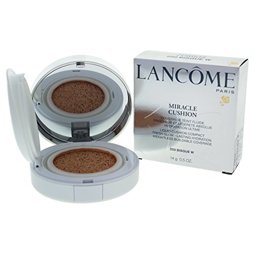Lancome Liquid Foundation (Lancome Miracle Cushion Liquid Cushion Compact, No. 250 Bisque W, 0.5 Ounce)