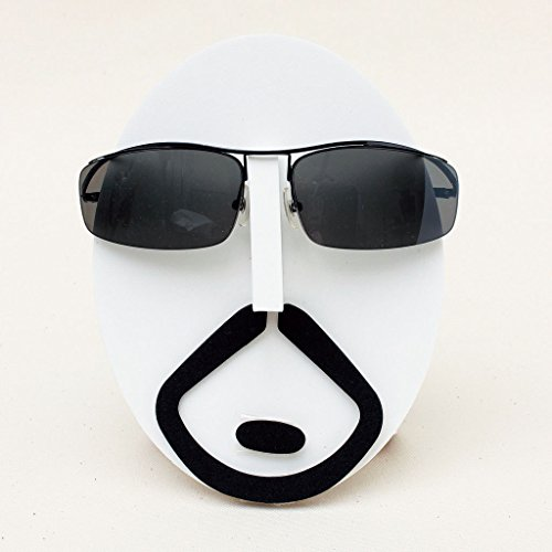 Time Concept Fun Faces Wall Mountable Eyeglasses Stand and Display - Carlos (012 Eyeglasses)