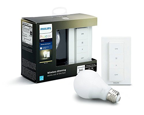 Philips Hue Smart Dimming Kit (Installation-Free, Exclusive for Philips Hue Lights, Compatible with Amazon Alexa, Apple HomeKit, and Google Assistant) (Certified Refurbished)