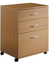 3drawer mobile filing cabinet from nexera natural maple