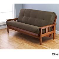 Somette Multi-flex Full-size Futon Frame and Innerspring Olive Mattress Set