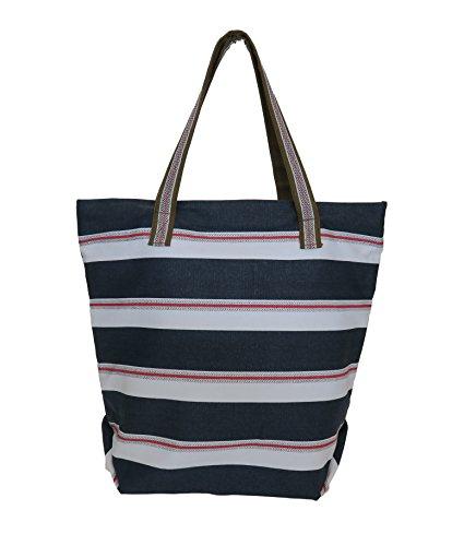 Carolina Sweethearts Nautical Tote Bag With Zipper - Rebecca Bags Ray