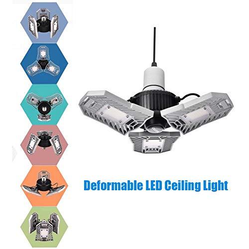 Led Deformable Radar Garage Light Motion Activated Ceiling: LED Garage Lights, WZTO Deformable LED Garage Ceiling