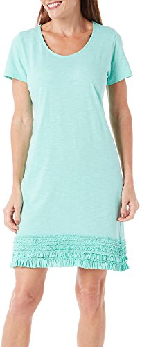 caribbean-joe-womens-petite-solid-short-sleeve-scoop-neck-dress-with-ruffle-hem-palawan-aqua-l
