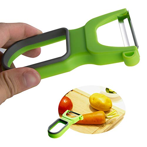 Attootric Peeler, Vegetable Peeler Set of 3 pcs with Sharp Stainless Steel Blade for Apple Potato Fruit, Swivel Y Serrated Julienne Peeler Non-Slip Handle Kitchen Gadgets Tools (Red Green Yellow) by Attootric (Image #5)