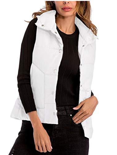 Jacket White EKU Quilted Puffer Packable Lightweight Vest Women's qqOCYaA
