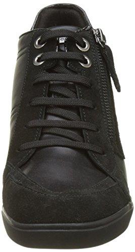 Geox Ladies D Eleni C Sneaker Alta Nero (nero)