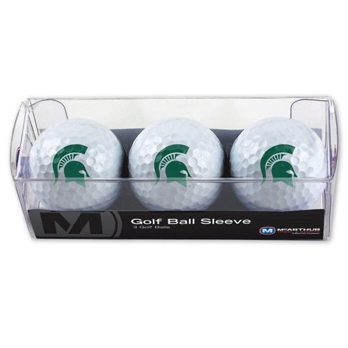 NCAA Michigan State University Golf Ball Sleeve (3 Piece) (3 University Golf Balls)