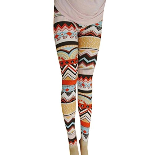 Leggings,GreatestPAK Noël Mode Femmes Élasticité Skinny Imprimé Stretchy Pantalon