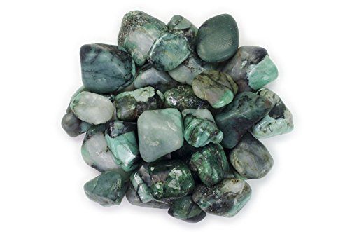 Hypnotic Gems Materials: 1/2 lb Emerald Tumbled Stones AA Grade from Brazil - Bulk Natural Polished Gemstone Supplies for Wicca, Reiki, and Energy Crystal HealingWholesale Lot ()