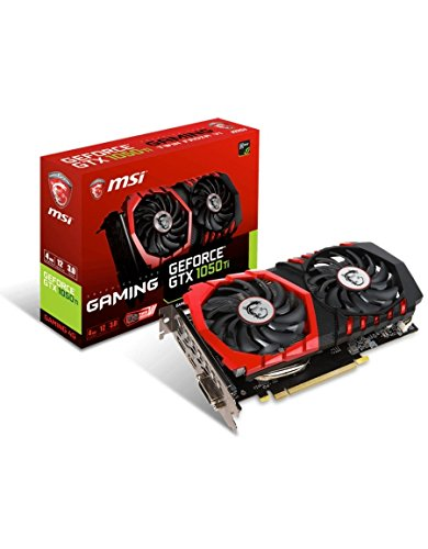 MSI GeForce GTX 1050 Ti - Tarjeta gráfica de 4 GB Gaming (PCIE 3.0, GDDR5, 128 bit, 7.08 GHz, 1493 MHz, DVI+HDMI+DP) Color Negro