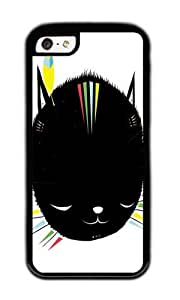 Zheng caseApple Iphone 5C Case,WENJORS Cool MIGHTY TIGARRR BLACK KITTEN Soft Case Protective Shell Cell Phone Cover For Apple Iphone 5C - TPU Black