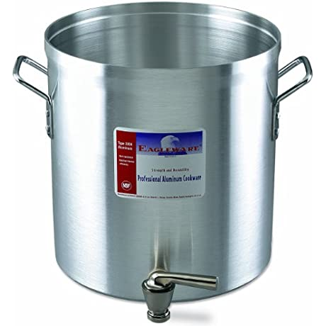 Alegacy Eagleware EW40F Professional Aluminum Stock Pot With Faucet 40 Quart