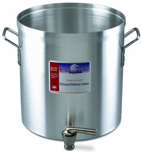 Alegacy Eagleware EW80F Professional Aluminum Stock Pot with Faucet, 80-Quart by Alegacy
