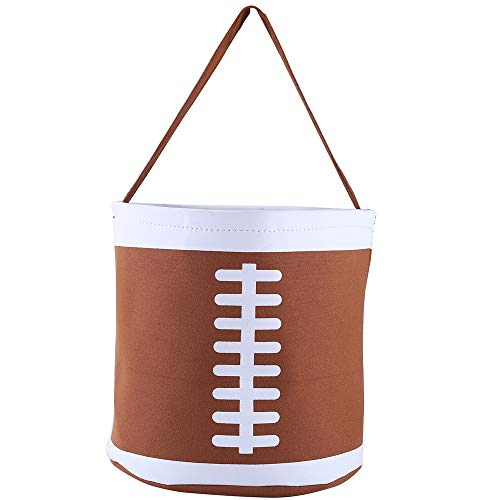 E-FirstFeeling Football Basket Easter Basket Easter Hunt Bag