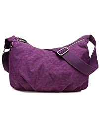 TianHengYi Women's Simple Style Dumpling Shape Nylon Cross-body Shoulder Bag Lightweight Messenger Bag