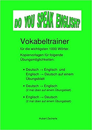 DO YOU SPEAK ENGLISH? Vokabeltrainer-Kopiervorlagen: Vokabel ...