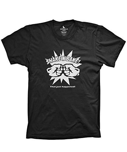 Guerrilla Tees Shake and Bake Shirt Ricky Bobby Shirt Funny Racing Shirt, Black, Small