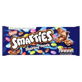 Original Smarties Large Sharing Chocolate Block Imported From The UK England The Best Of British Smarties Chocolate - Candy With Smarties Chocolate