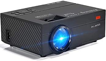 AuKing Mini Projecteur 2500 Lumens Vidéoprojecteur Portable Retroprojecteur, 55000 Heures Multimédia Home Cinéma...