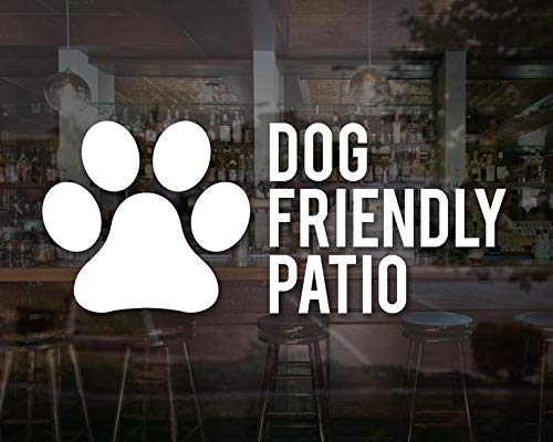 CELYCASY Dog Friendly Patio Decal Restaurant Business Sign Pet Vinyl Sticker