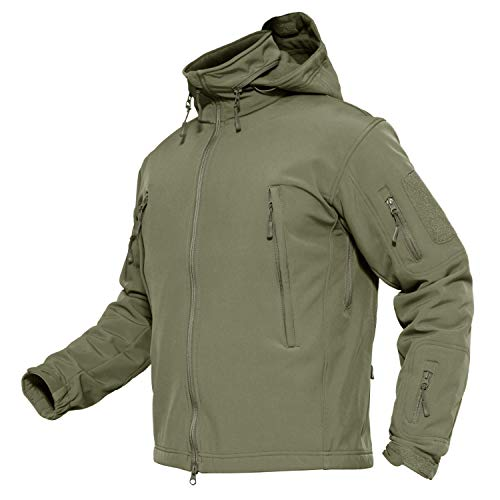 MAGCOMSEN Mens Army Jackets Tactical Jacket Military Softshell Warm Jacket Army Combat Jackets for Men XX-Large