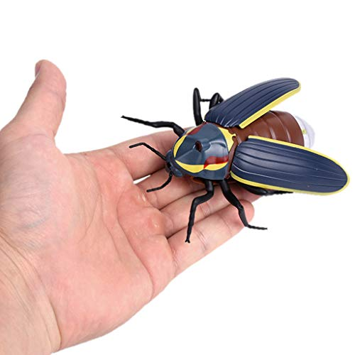 Ktyssp Infrared Remote Control Realistic Mini Firefly RC Prank Insect Scary Trick Toy -