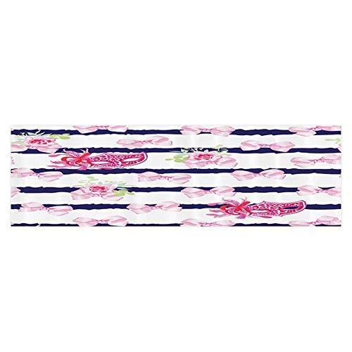 (UHOO2018 Aquarium Sticker Venetian Carnival Masks Striped with Satin Bows Rose Flowers Wallpaper Sticker Background Decoration 35.4