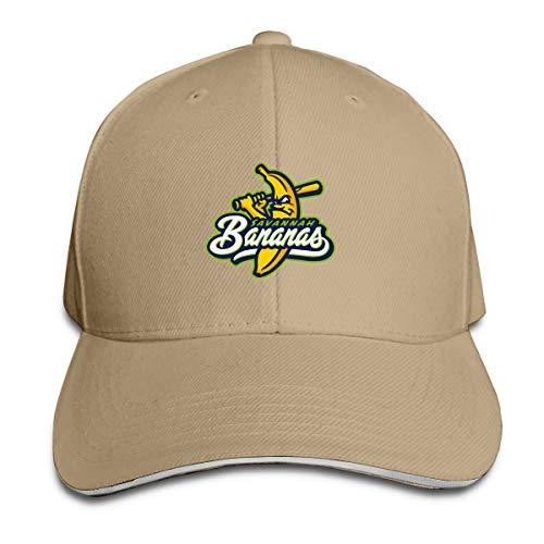 Savannah Bananas Durable Baseball Cap Hats,Adjustable Peaked Sandwich Cap -