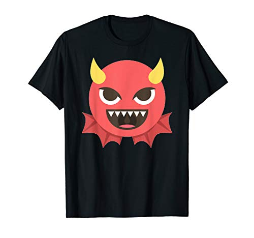 Devil Halloween Emoji Costume T-Shirt ()