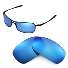 Walleva Replacement Lenses for Oakley Crosshair 2.0 Sunglasses - Multiple Options (Ice Blue Coated - Polarized)