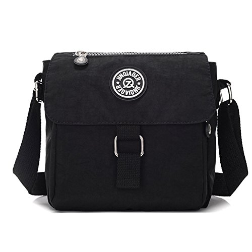 Bag Sport for Cross Tablet Ligthweight Crossbody Waterproof Bag Body Women Side Bag Black Messenger Pack Outreo Shoulder Fashion Bag Travel qSxnX1