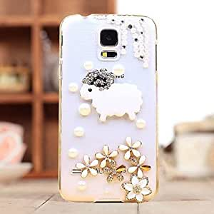 HJZ Diamond Little Sheep Back Cover Case for SAMSUNG Galaxy S5 I9600