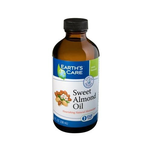 2 Packs of Earth's Care 100% Pure Sweet Almond Oil - 8 Fl Oz