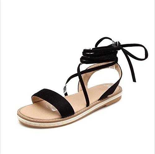 Noche Boda Cuero Mujer Sandalias Novedad E con Dedo Cordones Primavera de Verano Abierto de Comfort y Zapatos Banquete para Nubuck Cq4xU