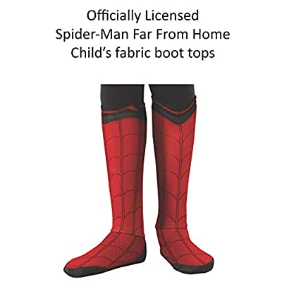 Rubie's Marvel Spider-Man Far from Home Child's Spider-Man Fabric Boot-Tops: Toys & Games