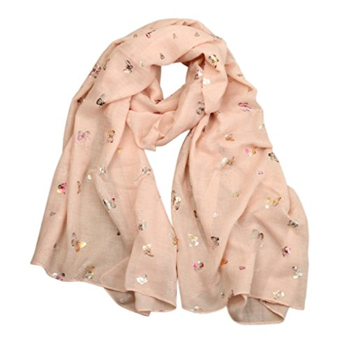 iHPH7 Scarf Lady Butterfly Print Long Wrap Women's Shawl Pashmina Stole Scarves (Wrap Paisley Mock)