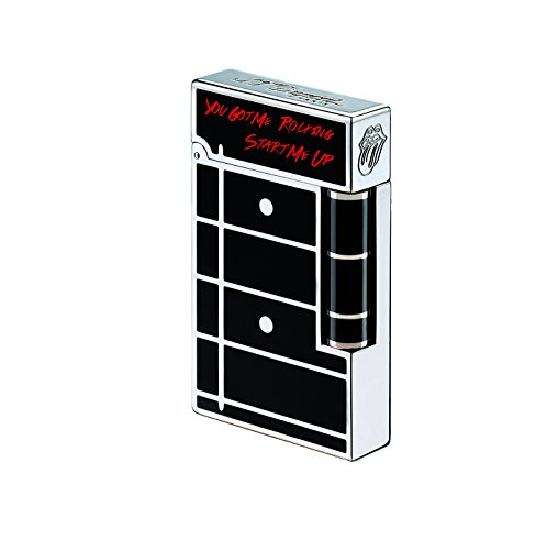 S.T.Dupont Line 2 Rolling Stone Palladium & Black Lacquer Lighter - Limited Edition