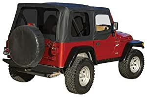 Complete Soft Top, Black Diamond (Tinted Windows) Crown CT20235T Jeep Wrangler
