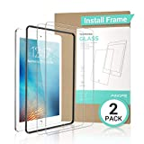 AINOPE [2 Pack] iPad 9.7 6th Generation Screen Protector - [Easy Install Frame]Tempered Glass Screen Protector for iPad Pro 9.7 iPad 5 iPad Air 2 -Apple Pencil Compatible High Definition Anti-scratch